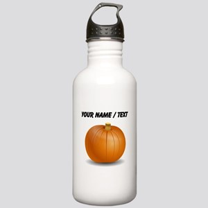Custom Orange Pumpkin Sports Water Bottle