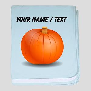 Custom Orange Pumpkin baby blanket
