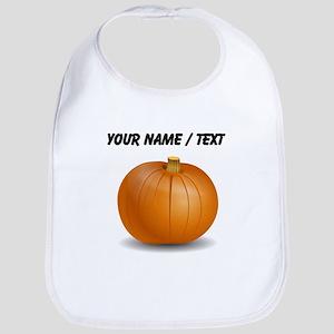 Custom Orange Pumpkin Bib