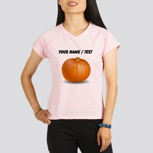Custom Orange Pumpkin Performance Dry T-Shirt