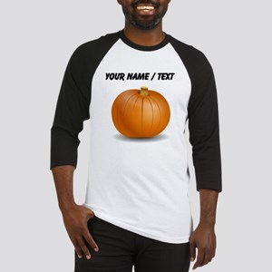 Custom Orange Pumpkin Baseball Jersey