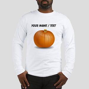 Custom Orange Pumpkin Long Sleeve T-Shirt
