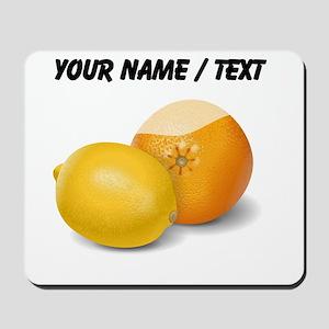 Custom Lemon And Orange Mousepad