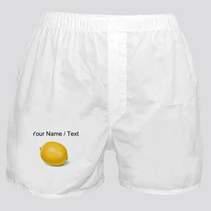 Custom Yellow Lemon Boxer Shorts