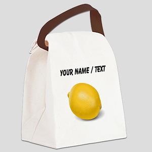 Custom Yellow Lemon Canvas Lunch Bag
