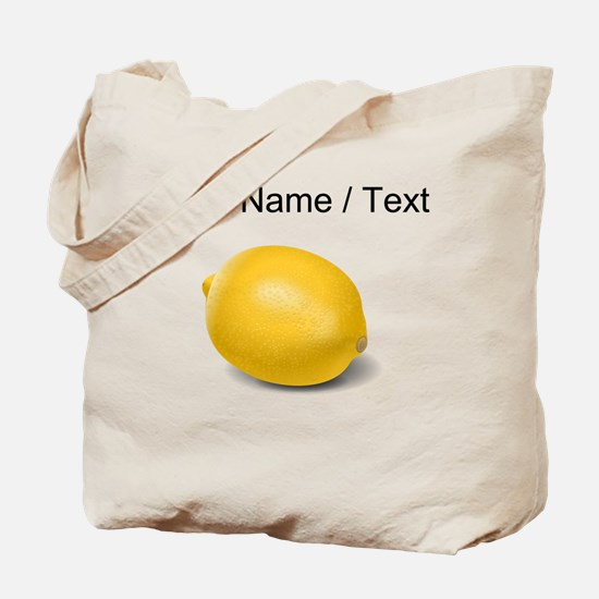 Custom Yellow Lemon Tote Bag