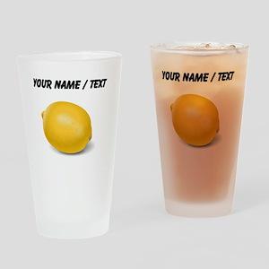 Custom Yellow Lemon Drinking Glass