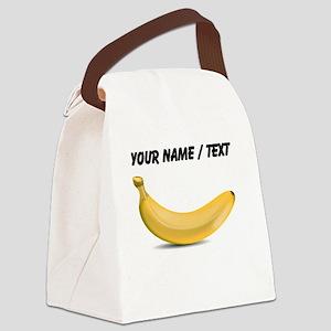Custom Yellow Banana Canvas Lunch Bag