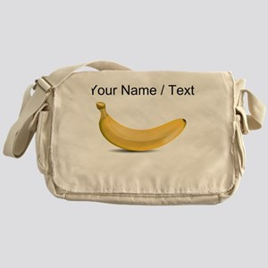 Custom Yellow Banana Messenger Bag