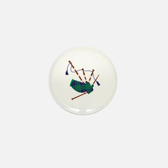 Scottish Bagpipes Mini Button