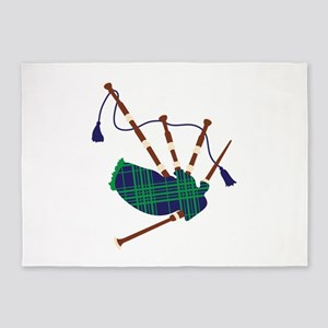 Scottish Bagpipes 5'x7'Area Rug