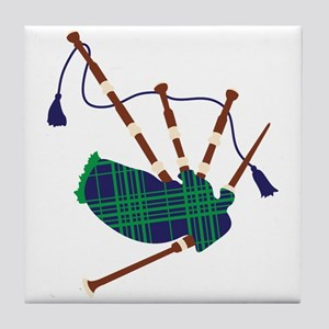 Scottish Bagpipes Tile Coaster