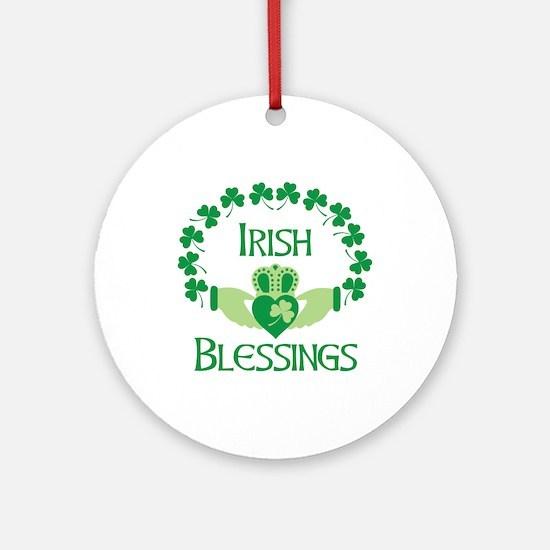 IRISH BLESSINGS Ornament (Round)