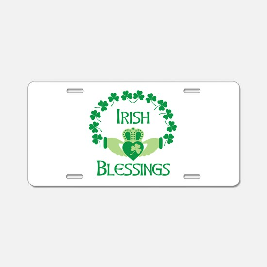 IRISH BLESSINGS Aluminum License Plate