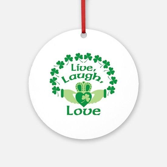 Live, Laugh, Love Ornament (Round)