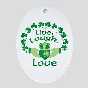 Live, Laugh, Love Ornament (Oval)