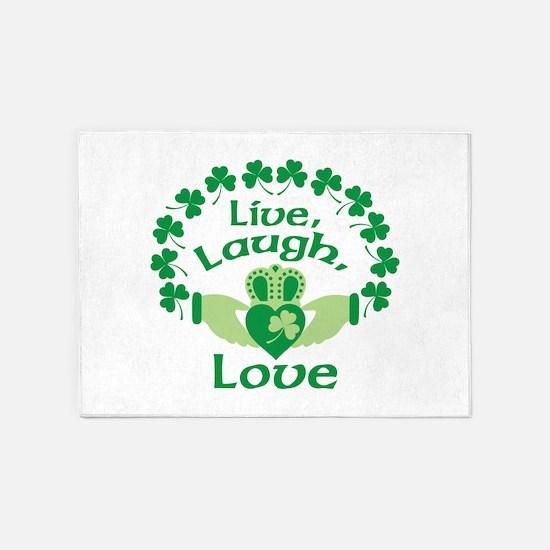 Live, Laugh, Love 5'x7'Area Rug