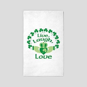 Live, Laugh, Love 3'x5' Area Rug