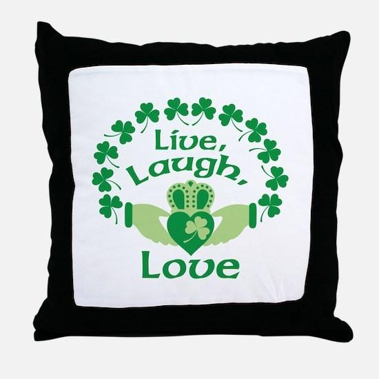 Live, Laugh, Love Throw Pillow