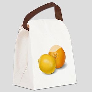 Lemon And Orange Canvas Lunch Bag