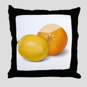 Lemon And Orange Throw Pillow