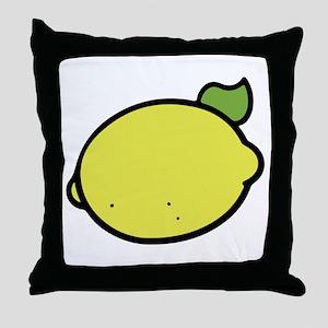 Lemon Drawing Throw Pillow