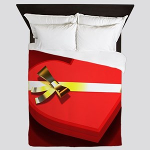 Chocolate Heart Box Queen Duvet