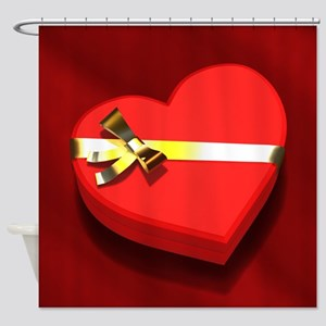 Chocolate Heart Box Shower Curtain