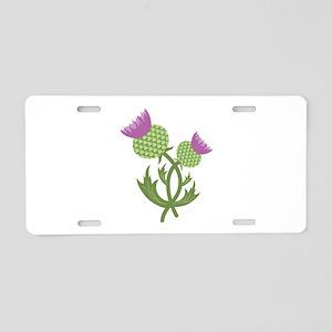 Thistle Flower Aluminum License Plate