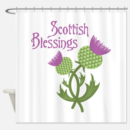 Scottish Blessings Shower Curtain