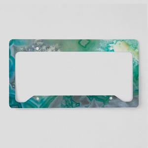 Teal Quartz Geode License Plate Holder