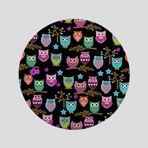 "happy owls 3.5"" Button"