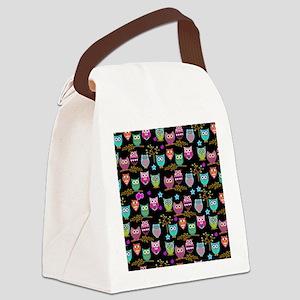 happy owls Canvas Lunch Bag