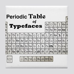 Periodic Table of Typography Tile Coaster