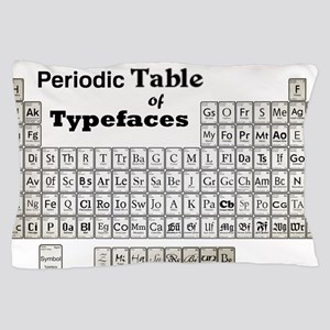 Periodic Table of Typography Pillow Case