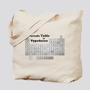 Periodic Table of Typography Tote Bag