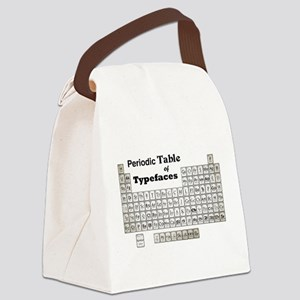Periodic Table of Typography Canvas Lunch Bag
