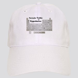 Periodic Table of Typography Baseball Cap