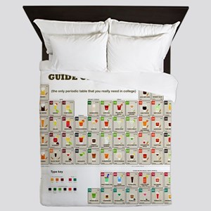 College Students Guide of Alcohol Queen Duvet