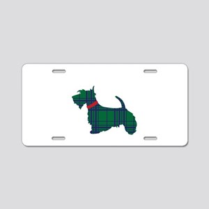 Scottish Terrier Dog Aluminum License Plate