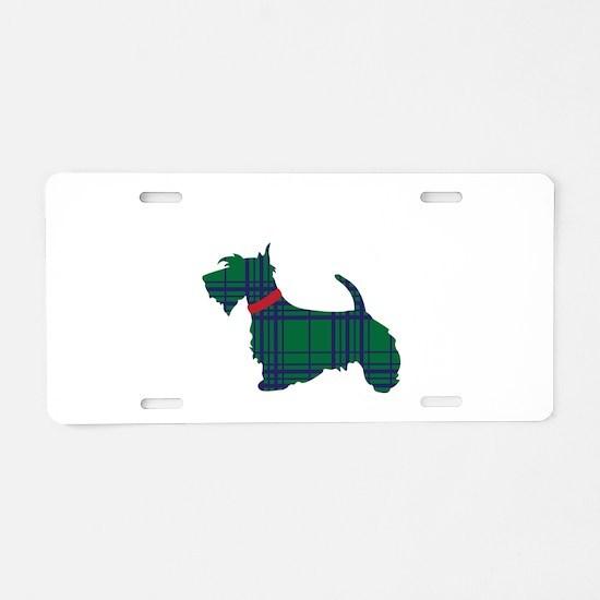 Scottish Terrier Dog Aluminum License Plate
