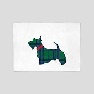 Scottish Terrier Dog 5'x7'Area Rug
