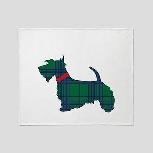 Scottish Terrier Dog Throw Blanket