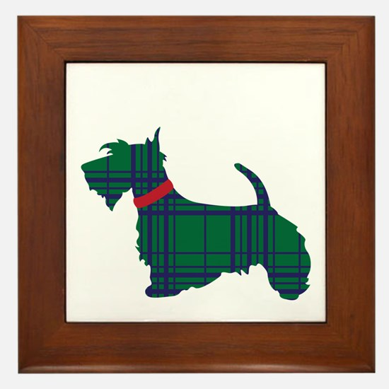 Scottish Terrier Dog Framed Tile