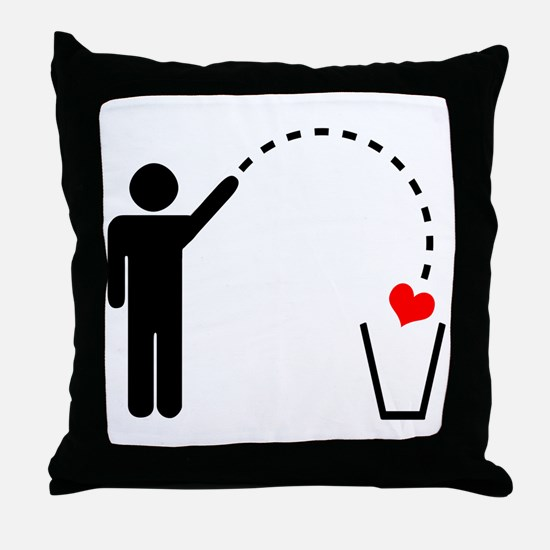 Throw Away Heart Throw Pillow