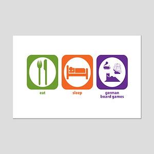 Eat Sleep German Board Games Mini Poster Print