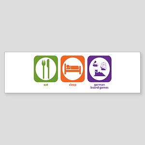 Eat Sleep German Board Games Bumper Sticker