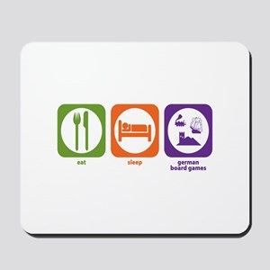 Eat Sleep German Board Games Mousepad