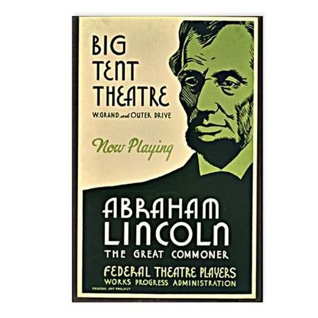Vintage - Abraham Lincoln Postcards (Package of 8)