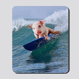 Surfing hot pig Mousepad